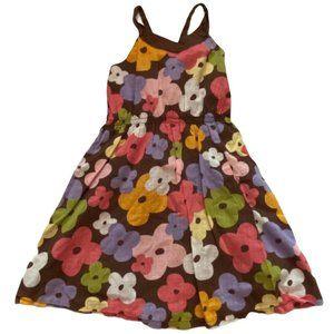 Gymboree Brown Floral Sundress Dress 5T